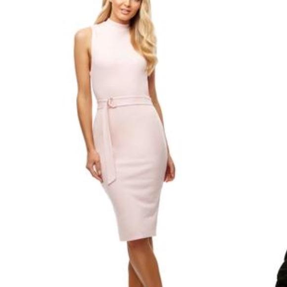 Kookaï Light Pink Midi Dress 1 (US 2-4) 0fac2e40b
